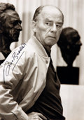 Autographs:Artists, German Sculptor Arno Breker Signed Photographic Postcard....