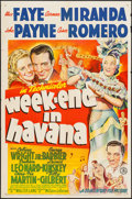 "Movie Posters:Musical, Week-End in Havana (20th Century Fox, 1941). One Sheet (27"" X 41"").Musical.. ..."