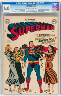Superman #61 (DC, 1949) CGC FN 6.0 Off-white to white pages