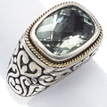 Estate Jewelry:Rings, Prasiolite, Gold, Sterling Silver Ring, Effy. ...