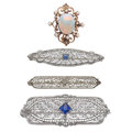 Estate Jewelry:Brooches - Pins, Multi-Stone, Platinum, Gold Brooches . ...