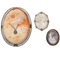 Estate Jewelry:Cameos, Shell Cameo, Gold Jewelry. ...
