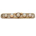 Estate Jewelry:Brooches - Pins, Freshwater Pearl, Opal, Gold Brooch. ...