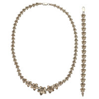 White Gold Jewelry Suite