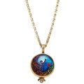 Estate Jewelry:Necklaces, Diamond, Enamel, Gold Pendant-Necklace. ...