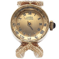 Lucien Piccard 14k Gold Ring Watch