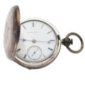 Timepieces:Pocket (pre 1900) , Waltham Crescent Street 15 Jewel 18 Size Pocket Watch. ...