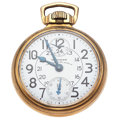 Timepieces:Pocket (post 1900), Waltham 23 Jewel Vanguard 24 -Hour & Wind Indicator PocketWatch. ...