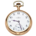 Timepieces:Pocket (post 1900), Ball 21 Jewel 18 Size Open Face Pocket Watch. ...