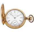 Timepieces:Pocket (post 1900), Hamilton 17 Jewel 18 Size Early Grade 937 Hunter's Case PocketWatch. ...