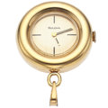 Timepieces:Pendant , Lady's Bulova Gold Plated Pendant. ...