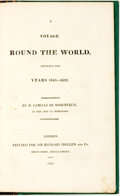 Books:Travels & Voyages, Camille de Roquefeuil. A Voyage Round the World Between the Years 1816-1819. London: For Sir Richard Phillips, 1823....