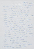 Football Collectibles:Others, Curly Lambeau Handwritten Signed Letter, - February 24, 1965 (Content About Don Hutson)....