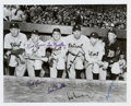 Baseball Collectibles:Photos, 1945 Detroit Tigers World Series Champions Signed Photograph with Two Hank Greenberg Signatures. ...