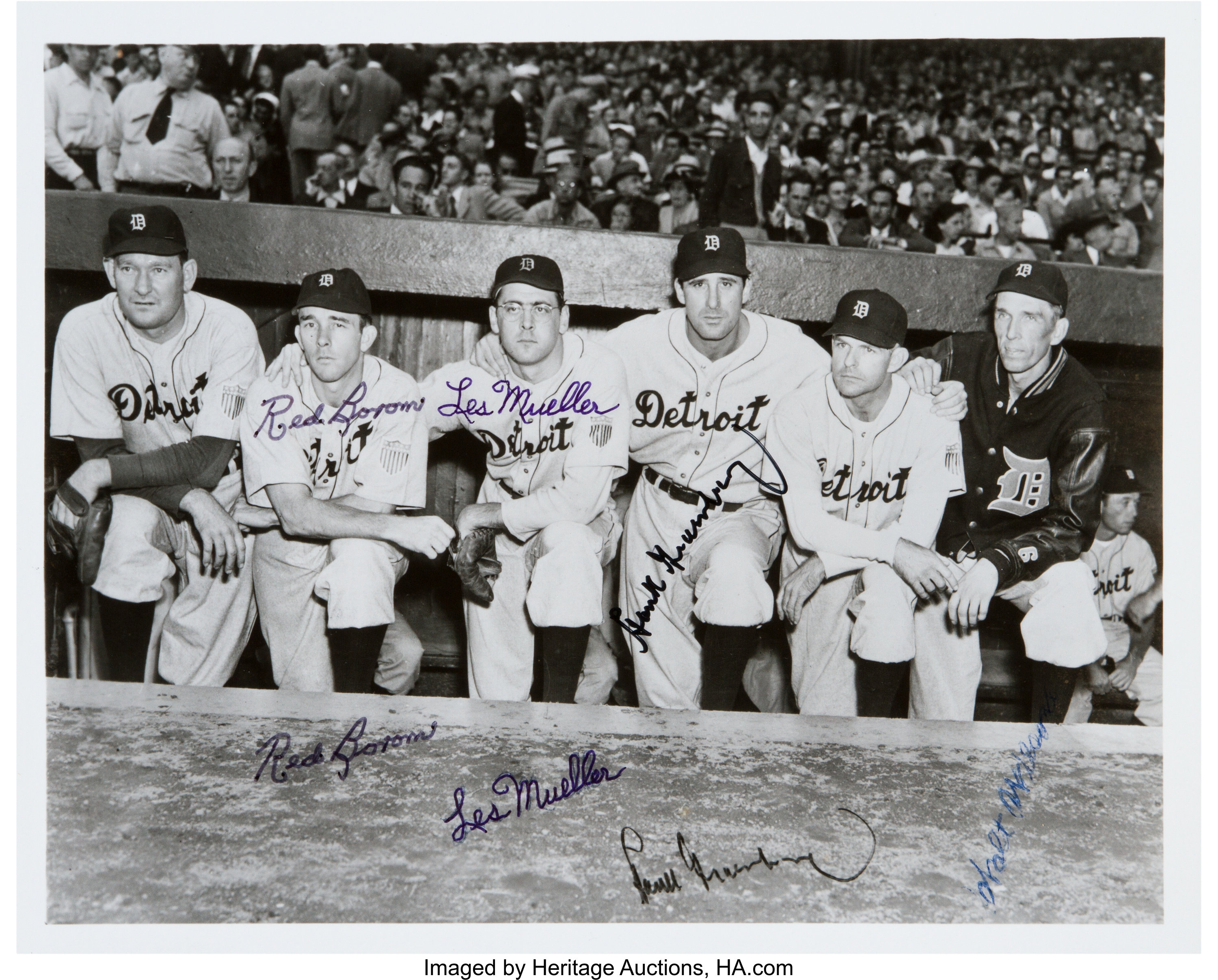 new products c4e4c 022d8 1945 Detroit Tigers World Series Champions Signed Photograph ...