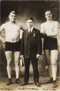 Boxing Collectibles:Autographs, Circa 1920 Mike E. Collins Signed Boxing Photograph. ...