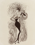 Mainstream Illustration, Al Hirschfeld (American, 1903-2003). Sapranos, Mae West,Cabaret, and Josephine Baker (four works). Lithographson p... (Total: 4 Items)