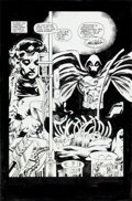 Original Comic Art:Splash Pages, James Fry III and Chris Ivy Marc Spector: Moon Knight #54Splash Page 1 Original Art (Marvel, 1993)....