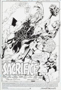 Original Comic Art:Splash Pages, Chuck Wojtkiewicz Justice League International #62 SplashPage 1 Original Art (DC, 1994)....