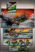 Original Comic Art:Panel Pages, Simon Bisley and Kevin Eastman Melting Pot Book One Page 1Original Art (Kitchen Sink, 1994)....