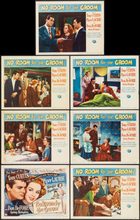 """No Room for the Groom & Other Lot (Universal International, 1952). Title Lobby Card & Lobby Cards (6) (11""""..."""