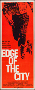 """Movie Posters:Drama, Edge of the City & Other Lot (MGM, 1956). Inserts (2) (14"""" X36""""). Drama.. ... (Total: 2 Items)"""