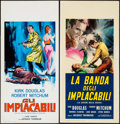 """Movie Posters:Film Noir, Out of the Past (RKO, R-1961/R-1960s). Italian Locandinas (2) (13"""" X 27.5""""). Film Noir.. ... (Total: 2 Items)"""