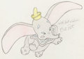 Animation Art:Production Drawing, Dumbo Illustration (Walt Disney, date unknown)....