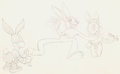 Animation Art:Production Drawing, Toby Tortoise Returns Max Hare Layout Drawing (Walt Disney,1936)....