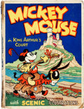 """Big Little Book:Cartoon Character, Big Little Book """"Pop-Up"""" Mickey Mouse in King Arthur's Court (Blue Ribbon Press, 1933) Condition: FR/GD...."""