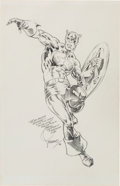 Original Comic Art:Sketches, Jim Steranko Captain America Sketch Original Art (1984)....