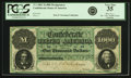 Confederate Notes:1861 Issues, Confederate States of America - T1 1861 $1000 Montgomery IssuePF-1, Cr. 1. PCGS Very Fine 35.. ...