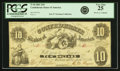 Confederate Notes:1861 Issues, Confederate States of America - T10 1861 $10 PF-15, Cr. UNL. PCGS Very Fine 25.. ...