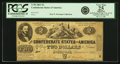 Confederate Notes:1861 Issues, Confederate States of America - T38 1861 $2 PF-1, Cr. 286. PCGS Very Fine 25 Apparent.. ...