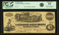 "Confederate Notes:1862 Issues, Confederate States of America - T39 $100 1862 PF-2, Cr. 289, Cr.UNL. ""Fantasy Back."" PCGS About New 53.. ..."