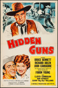 "Movie Posters:Western, Hidden Guns & Other Lot (Republic, 1956). One Sheets (2) (27"" X 41""). Western.. ... (Total: 2 Items)"