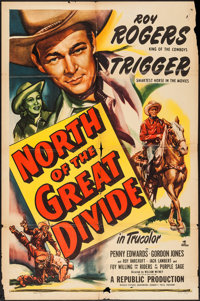 """North of the Great Divide & Other Lot (Republic, 1950). One Sheet (27"""" X 41"""") and Three Sheet (41""""..."""