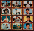 Baseball Cards:Lots, 1955 Bowman Baseball Collection (66) With Mantle & Mays....