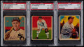 Baseball Cards:Lots, 1934-36 Diamond Stars Baseball PSA Graded Trio (3) With Rare High Number....
