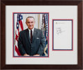 Miscellaneous Collectibles:General, Circa 1965 President Lyndon Baines Johnson Signed Cut, Air ForceOne Cup & Record Collection Lot of 7....