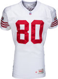 Football Collectibles:Uniforms, 1995 Jerry Rice Game Worn San Francisco 49ers Jersey - With Team LOA!...