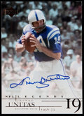 Football Cards:Singles (1970-Now), 2001 Upper Deck Legends Autograph Johnny Unitas #JU....