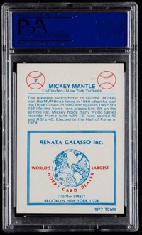 1977 Tcma Renata Galasso Mickey Mantle Signed Baseball Psa