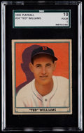 Baseball Cards:Singles (1940-1949), 1941 Play Ball Ted Williams #14 SGC 10 Poor 1....