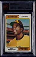 Baseball Cards:Singles (1970-Now), 1974 Topps Dave Winfield #456 BVG Mint 9....