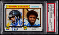 Football Cards:Singles (1970-Now), 1979 Topps Rushing Leaders Walter Payton/Earl Campbell Signed Card#3 PSA/DNA Authentic....