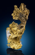 "Minerals:Cabinet Specimens, Native Gold on Quartz with ""Slickensides"" - 6.92 OZT. Presumedto be California . ..."