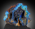 Minerals:Small Cabinet, Azurite. Bisbee, Warren District, Mule Mts, Cochise Co.,Arizona, USA. ...
