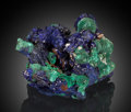 Minerals:Miniature, Azurite & Malachite. Bisbee, Warren District, Mule Mts,Cochise Co., Arizona, USA. ...