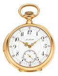 Timepieces:Pocket (post 1900), A. Nicolet 18k Gold Minute Repeater, circa 1905. ...